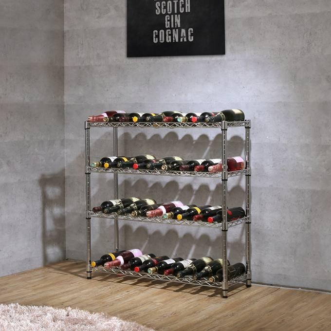 【送料無料】[25mm] ワインホルダーラック 36本用 幅90 奥行30 高さ90 4段 (幅91.5×奥行30×高さ90cm) ワインセラー NTR9030-4W