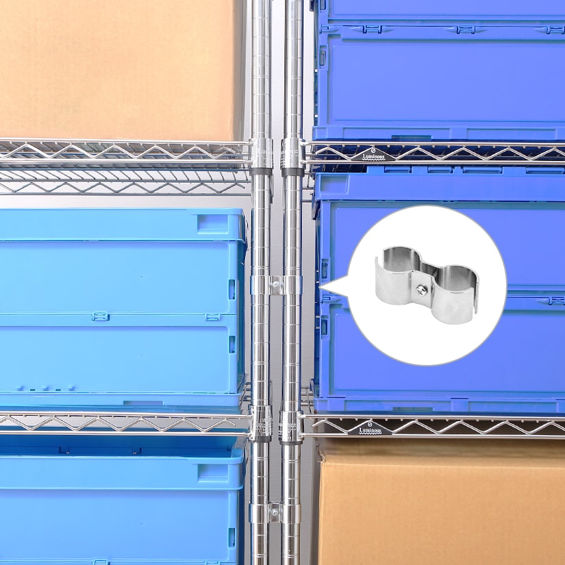 <span>ルミナスラックを2台以上並べて使う時の必需品。</span>オフィス・倉庫・作業場などの利用時に、プラスして使うのがおすすめです。お互いに支えあうから、繋げるほどに安定します。