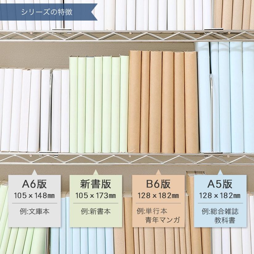 <span>書籍サイズに合わせて、棚高さを自由に調節</span>棚高さは2.5cm刻みで調節が可能だから、まるで図書館や本屋さんの棚のように様々なサイズの本がピッタリに。機能的な設計が実現します。