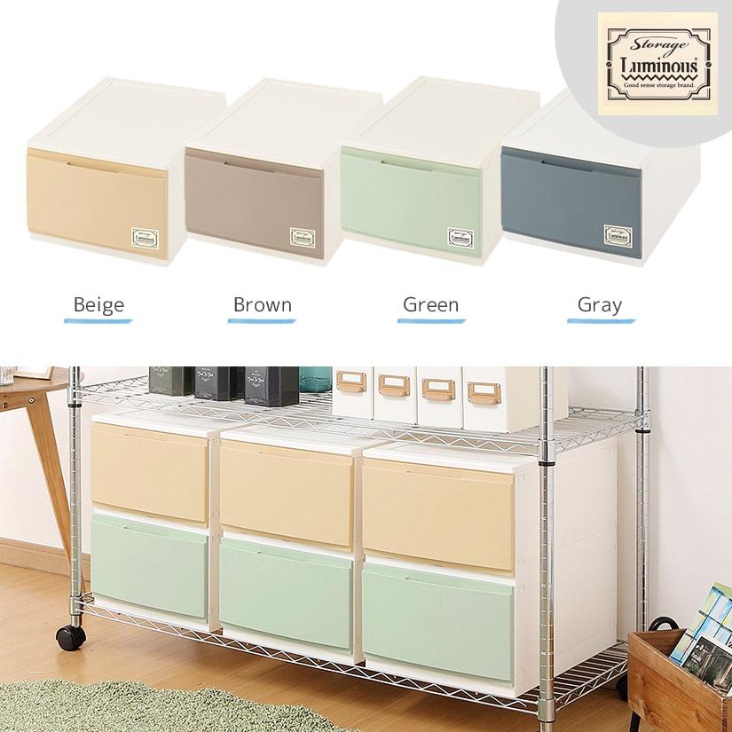<span>4色のカラー展開&ルミナスステッカー付き</span>ベージュ、ブラウン、グリーン、グレーの4色展開。またルミナスのオリジナルステッカーも付属。お好みの場所に貼り付けてポイントに!