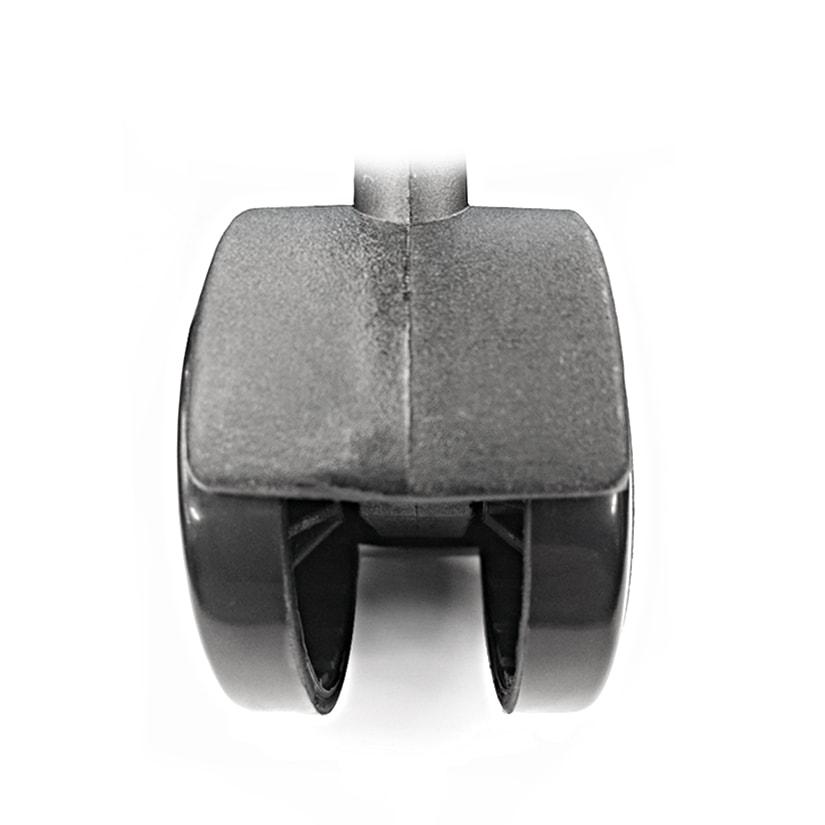 <span>車輪幅30mmという安定感</span>コンパクトな車輪幅30mmで小回りが利くスムーズな動き!付属のスパナを使えば、女性一人でも簡単に取り付けができます。