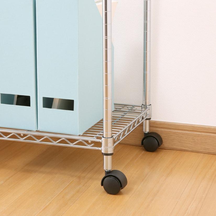 <span>ストッパー無しタイプ</span>ストッパー付き2個、ストッパー無し2個で設置するのが一般的ですが、荷物の運搬や、頻繁に移動させる用途の場合はストッパー無しタイプがおすすめ!