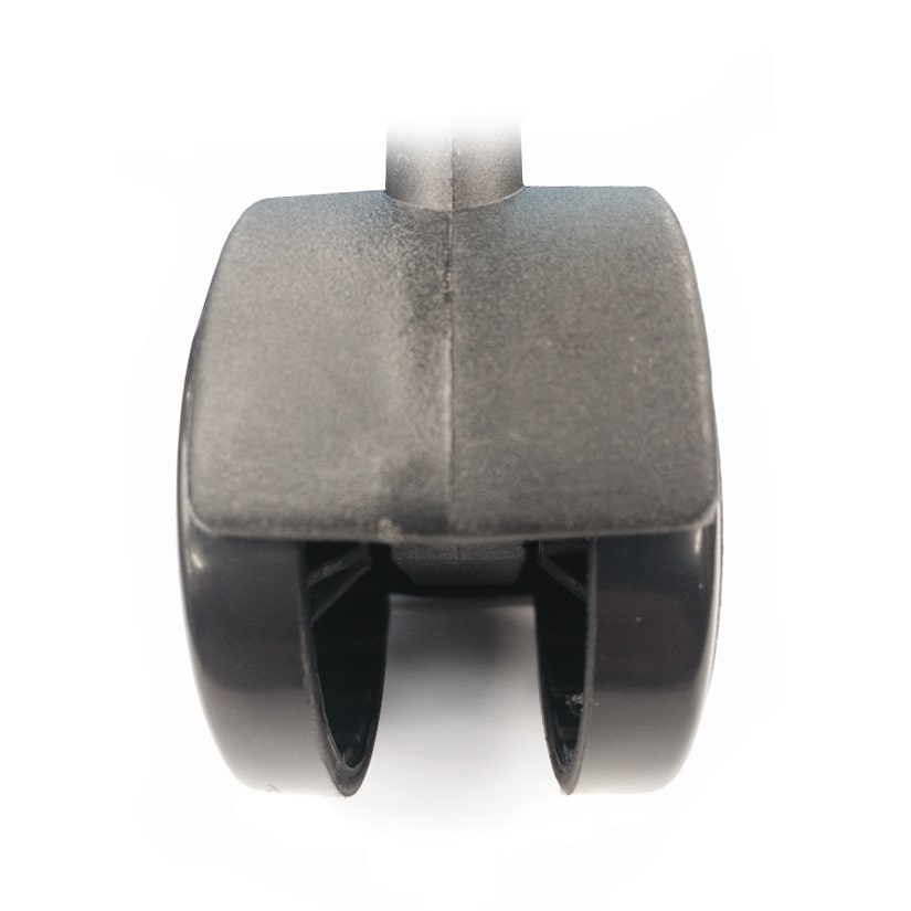 <span>車輪幅40mmという安定感</span>大きい車輪でドシッと安定!ラックが倒れる心配もありません。付属のスパナを使えば、女性一人でも簡単に取り付けができます。