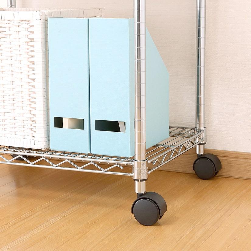 <span>安心の耐荷重300kg!ルミナス純正キャスター</span>耐荷重300kgと、ご家庭利用であれば十分な実力。安心のルミナス純正キャスターの為、動きがスムーズで使いやすい!