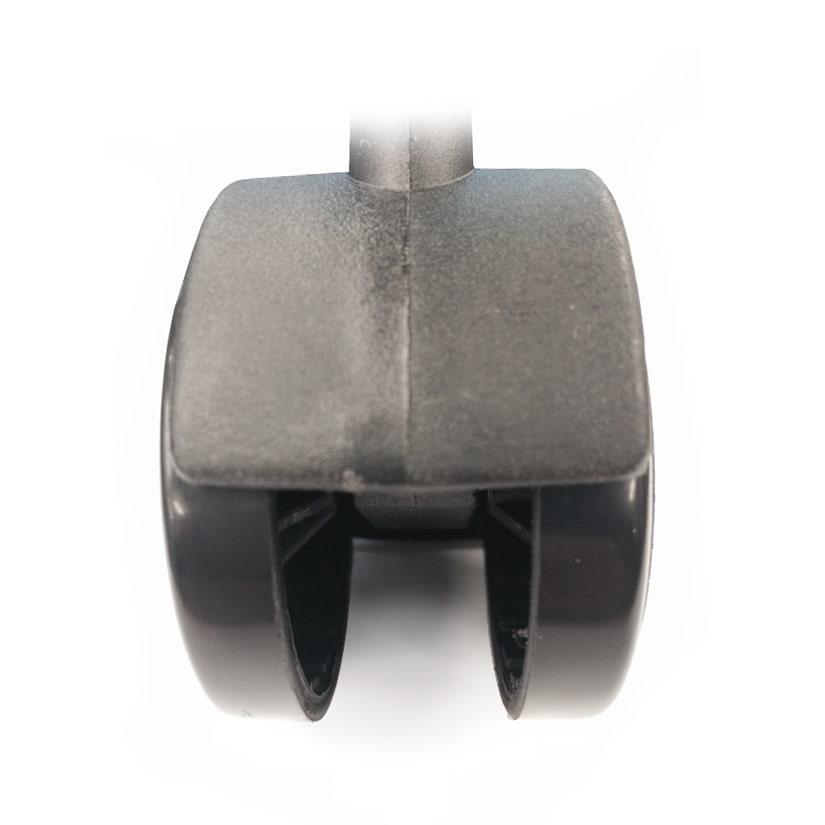<span>車輪幅40mmという安定感</span>大きい車輪でドシッと安定!ラックが倒れる心配もありません。付属のスパ ナを使えば、女性一人でも簡単に取り付けができます。