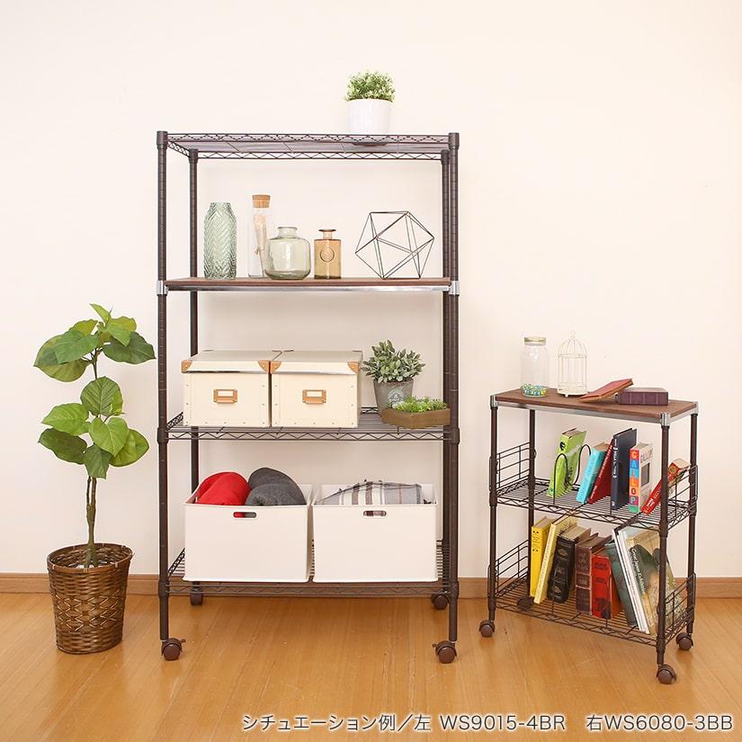 <span>ブラウンカラーでお部屋を彩る</span>白壁のお部屋に設置するとたちまちナチュラルな温かいインテリアに。植物の緑にもよく合います。