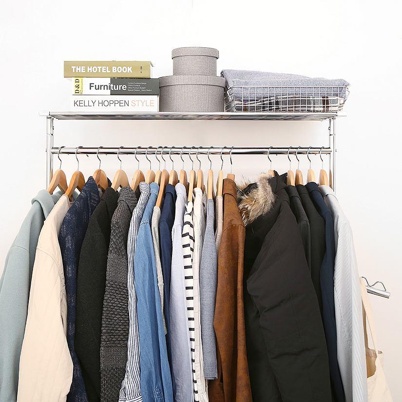 <span>不安定な洋服収納から、解放されませんか?</span>プロ仕様の高耐荷重ハンガーラックなら、ぐらぐらと不安定さから解放!毎日使う家具だからこそ、本当に永く使えるものをお選びください。